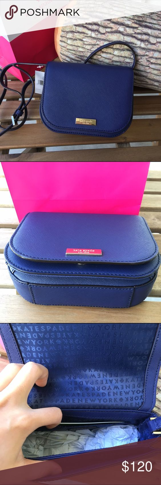 Kate Spade Crossbody Ocean Blue Brand new with tags! Very cute bag for any occasions!😍   Size: 7 x 5.5 x 2.5                        Looking for a better listing? Find me on Ⓜ️ kate spade Bags Crossbody Bags
