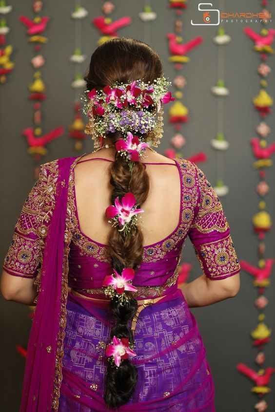 Inspiring Indian Wedding Hairstyles For Long Hair You Must Try Before Walking Own Tow Wedding Saree Blouse Designs Wedding Blouse Designs Bridal Blouse Designs
