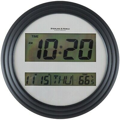 Mainstays Sterling Noble Lcd Digital Wall Table Clock 8 5 Time Date Temp Blac Fashion Home Garden Homedcor Clocks Ebay Link In 2020 Digital Wall