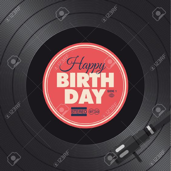 Happy Birthday Card Vinyl Illustration Background, Vector Design ...