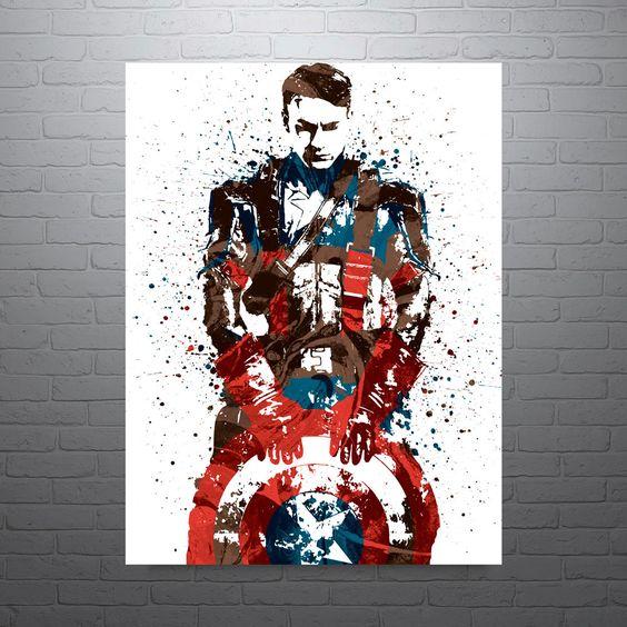 Civil War Captain America Poster