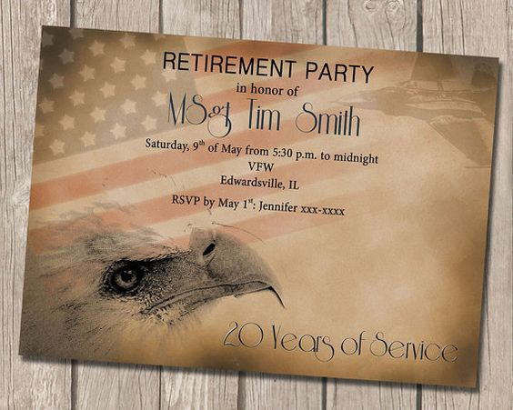 Hey, I found this really awesome Etsy listing at https://www.etsy.com/listing/218134713/military-retirement-party-invitation