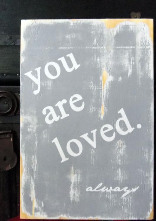 Typography Wall Art- You Are Loved Wood Sign ... from '13Pumpkins' on Lilyshop for $60.00