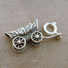 Vintage Sterling Covered Wagon Charm - a souvenir from Knott's Berry Farm