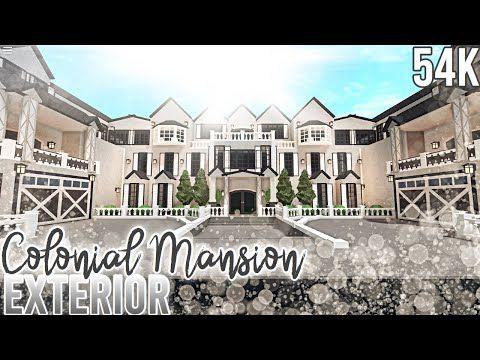 Modern Mansion Roblox Bloxburg Mansion Ideas French Colonial Mansion Exterior Nixilia Roblox Bloxburg Youtube In 2020 Colonial Mansion Mansions French Mansion