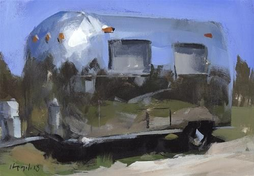 """Daily Paintworks - """"Airstream - Quick Study"""" by David Lloyd"""