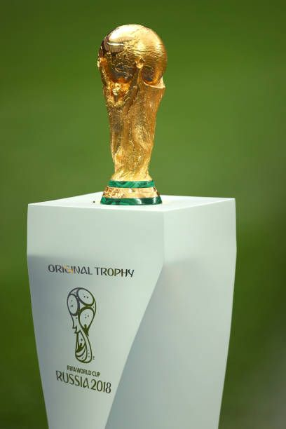 General View Of The Fifa World Cup Trophy Prior To The 2018 Fifa World Cup Russia Final Between France And World Cup Trophy Fifa World Cup Teams Fifa World Cup