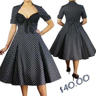 Rockabilly Polka Dot dress from Blueberryhillfashions.com