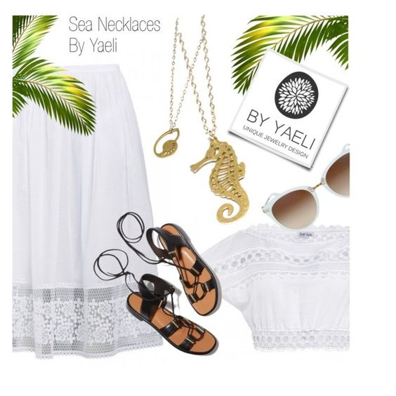 """YAELI JEWELRY"" by monmondefou ❤ liked on Polyvore featuring Rosetta Getty and yaeli"