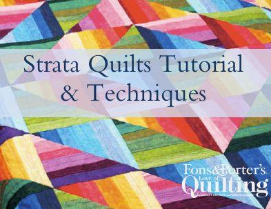 Strata Quilts Tutorial