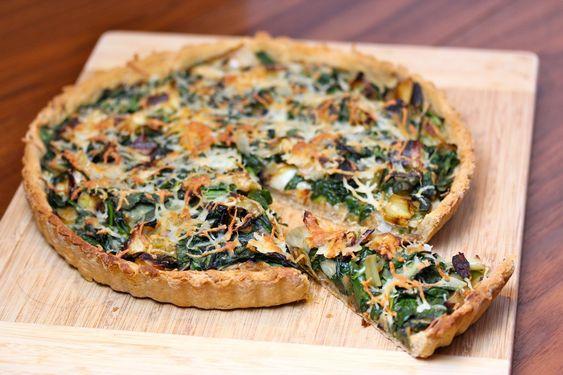 spinach + leek tart