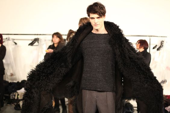 Backstage at Fendi
