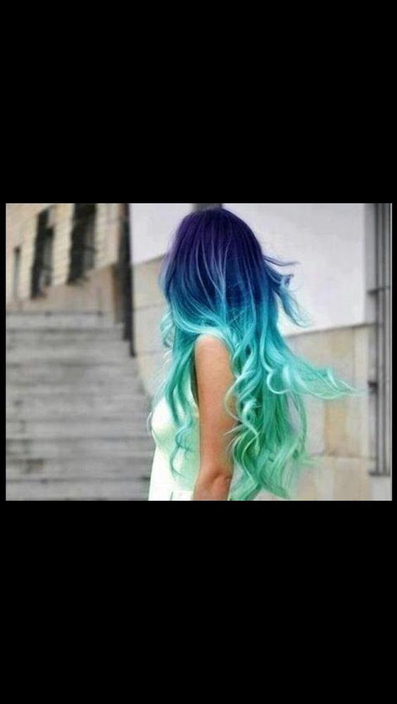 Blue ombré mermaid hair!