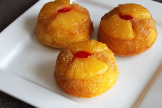 How to Make Mini Pineapple Upside-Down Cupcakes - uses boxed cake mix and a few other ingredients