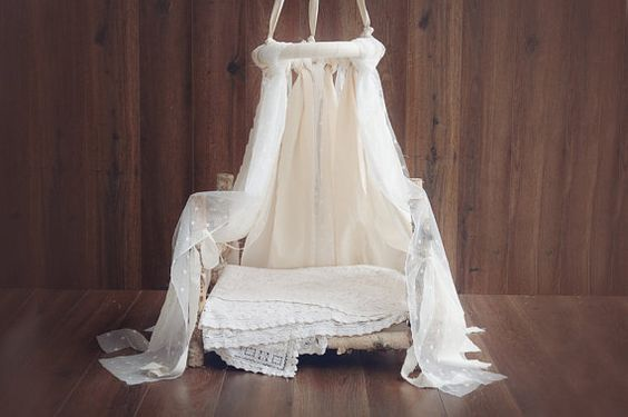 Newborn Canopy Photo Prop hanging fabric canopy prop by Mamamada