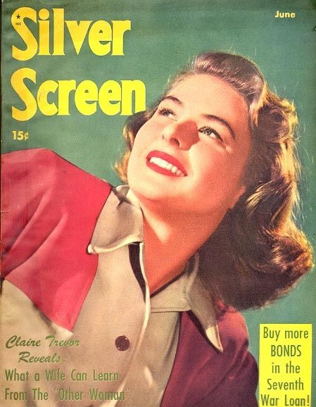 "Ingrid Bergman on the cover of ""Silver Screen"" magazine, USA, June 1945."