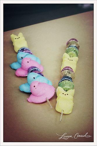 Peep Kebobs :-) #Easter #Spring #Treats