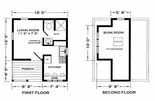 Studios cottages and loft on pinterest for Super efficient house plans