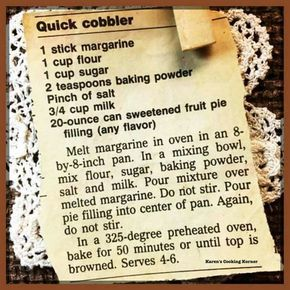 Food Photography: Quick Cobbler Recipe
