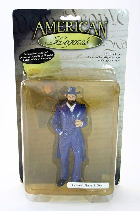 General Ulsses s Grant American Legends Figure Bio Card 2000 Civil War | eBay