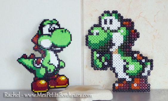 yoshi en perles hama mini et midi mario bros hama pinterest hama mini minis and simple. Black Bedroom Furniture Sets. Home Design Ideas