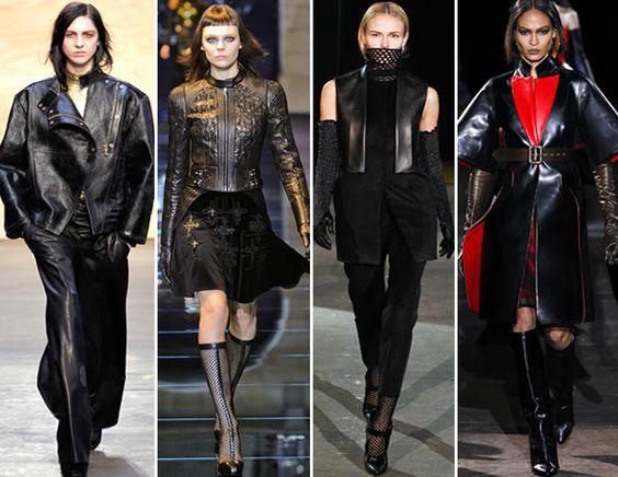 Las seis tendencias otoñales. Piel al estilo gótico.