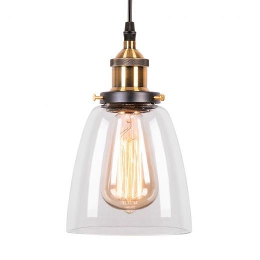 Fabrik Glasbecher Pendelleuchte Antik Gold Klar In 2020 Glass Shade Pendant Light Copper Pendant Lights Glass Ceiling Lamps