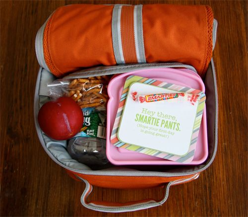 Back to school ideas: lunch box notes. Use a picture for Kinder kids who don't read yet.