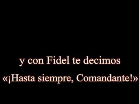 Spanish Songs Hasta Siempre Comandante Carlos Puebla With Lyrics A Spanish Songs Songs Lyrics