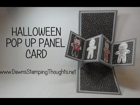Pop Up Panel card using Cookie Cutter Halloween stamp set from Stampin'Up! - YouTube
