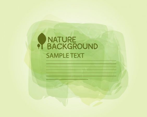 Nature vector template