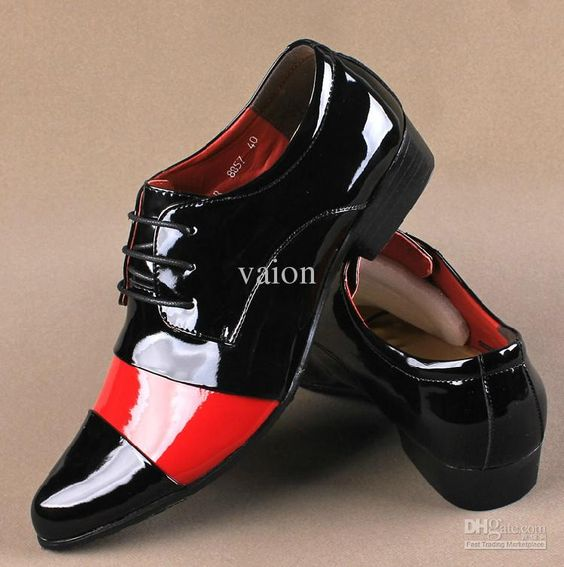 Wholesale Men Shoes - Buy Unique Red White Black Joining Together ...