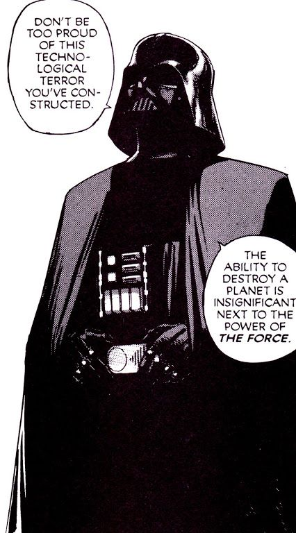 Darth Vader (Weirdly,  the voice of reason within this scenario)