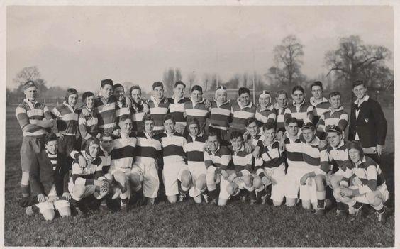 The First Fifteen Hms Conway Rugby Team 1937 Royal Navy Conway Naval
