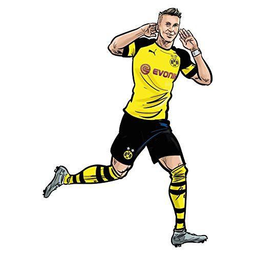 Wandsticker Bvb Comic Spieler Marco Reus Borussia Dormund Fussball Bundesliga Sport Verein Tricot Ill Marco Reus Bundesliga Borussia Dortmund Spieler