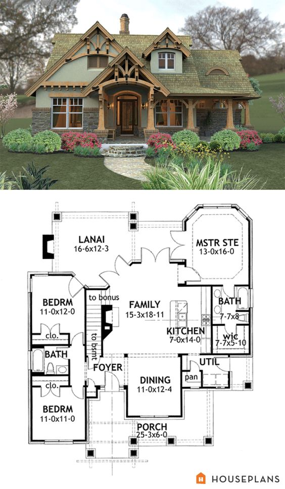 Craftsman Mountain House Plan And Elevation 1400sq Ft