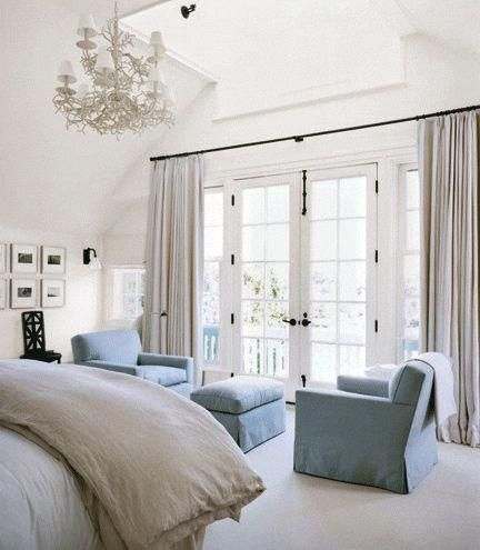 Like The Curtains For Over The Doors This Would Work Over Our Sliding Glass Doors Instead Of The Vertical Blinds Als French Doors Bedroom Home Bedroom Design