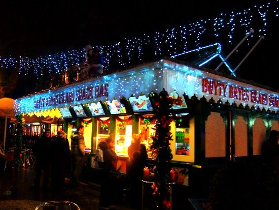 Wales. Cardiff at Christmas. Cardiff's Winter Wonderland and Christmas Market. Hayes Island Snack Bar http://worldtravelfamily.com/cardiff-wales-christmas-winter-wonderland/