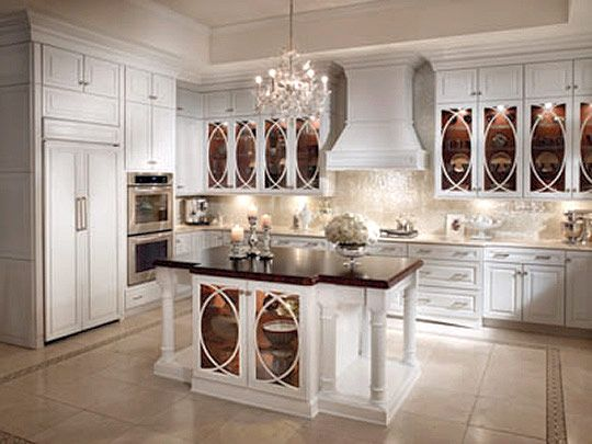 kraftMaid Cabinetry Details such as s elliptical mullions on glass ...