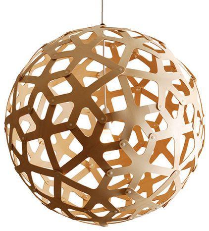 modern pendant lighting by HORNE: David Trubridge, Dining Room, Living Room, Light Fixture
