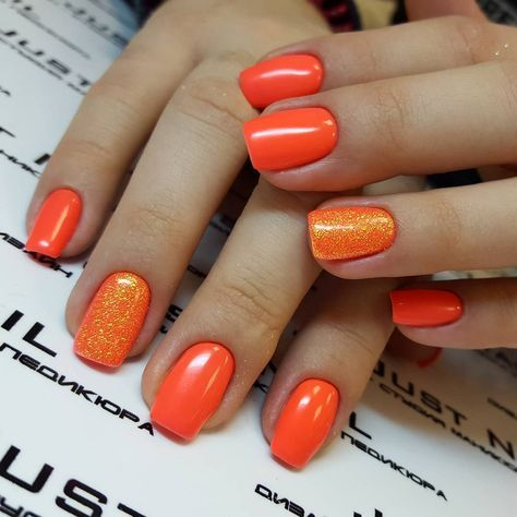 New Nails Orange Design Summer 50 Ideas