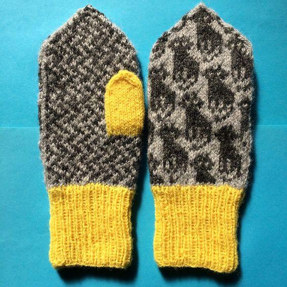Ravelry: Cat mittens 猫ミトン pattern by Mariko Mikuni (三國 万里子)