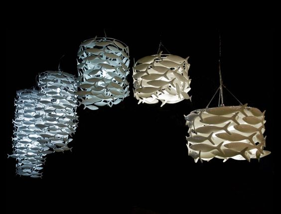 SHOAL Bone China Pendant Light by DOMINIC and FRANCES BROMLEY for Scabetti
