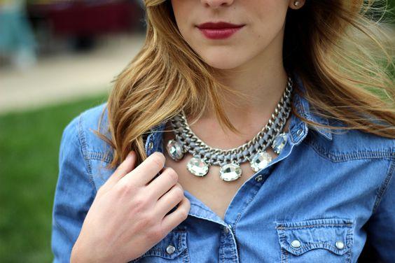silver weave bib necklace
