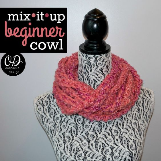 2015 MIX it Up Beginner Cowl - Free Crochet Pattern - Featuring Red ...