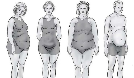 The Four New Body Types; Such an interesting article!!!! I know I was an ovary shape and have become a thyroid shape after the kids. This examples those and others!