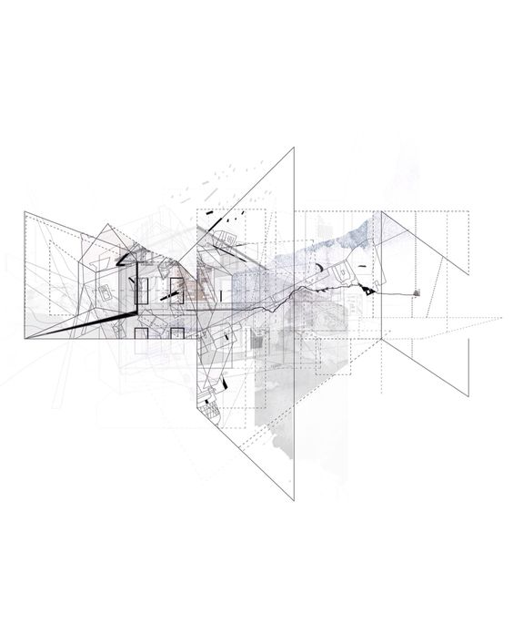 Unfold space// Discover what is mysterious in things, in life , in human acts  #drawing #concept #architecture