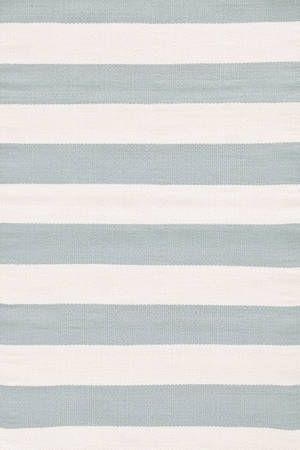 dash & albert catamaran striped rug in light blue/ivory