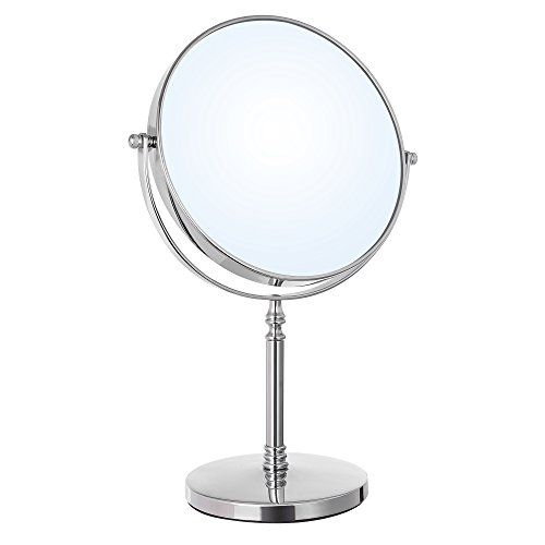 Mirrordeco Free Standing Table Top Mirror Round Black Frame H 68cm Mirror Table Dressing Table Mirror Mirror Decor