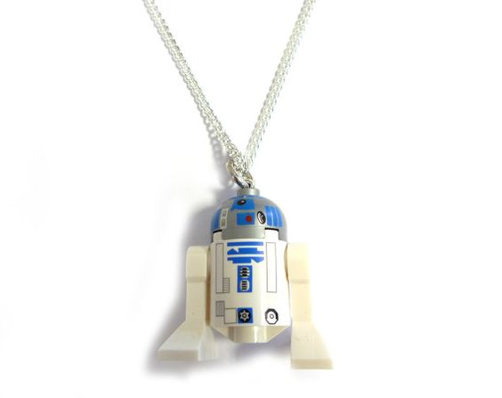Star Wars R2 D2 Lego figure necklace by FreakyFinery on Etsy, £8.50